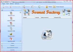 Format Factory Interface